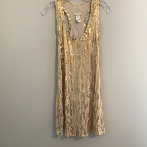 Rubber Ducky Productions, Inc. Dresses & Skirts - Gold Sequin Dress
